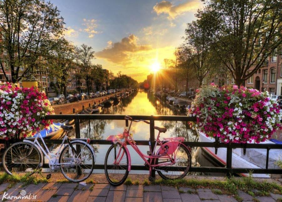 کانال های آمستردام ; رویایی در کشور لاله ها