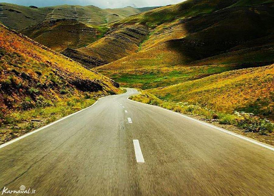 زیبایی ها ی جاده بلده تا خانه نیما