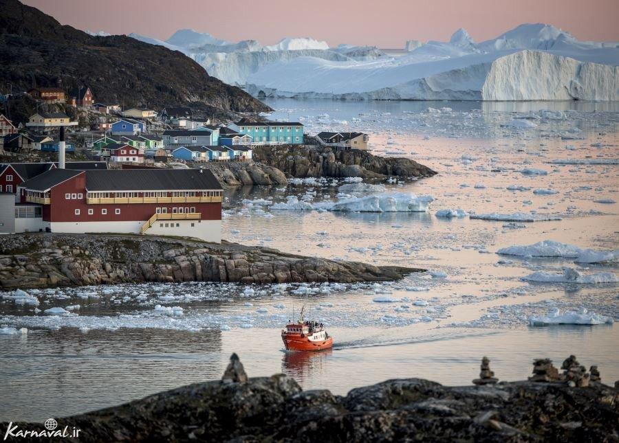 تصاویر حیرت انگیز از جزیره گرینلند