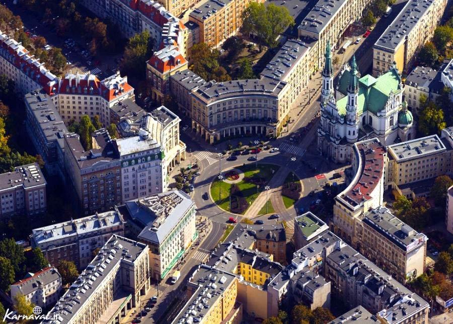 تصاویر هوایی بینظیر از ورشو لهستان