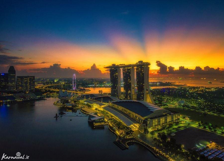 تصاویر هوایی از سنگاپور