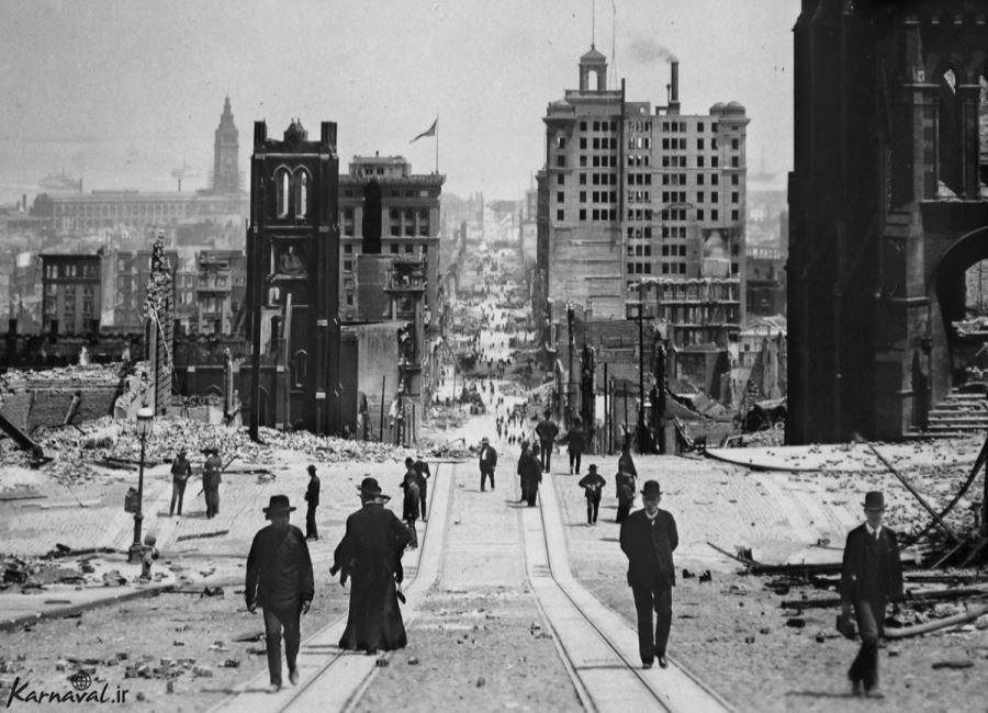 عکس هایی از زمین لرزه سال 1906 سان فرانسیسکو  (2)