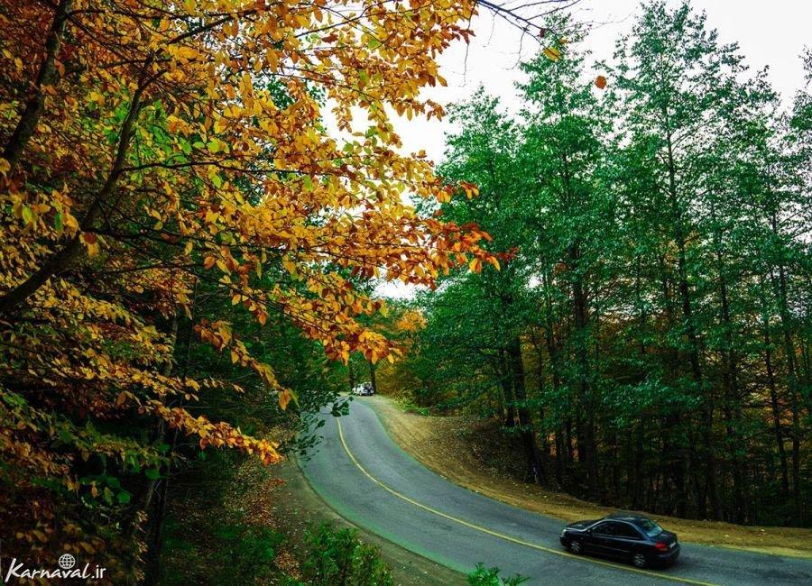 تصاویر پاییز در جاده اسالم به خلخال