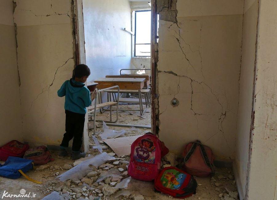تصاویر کودکان جنگ زده سوریه