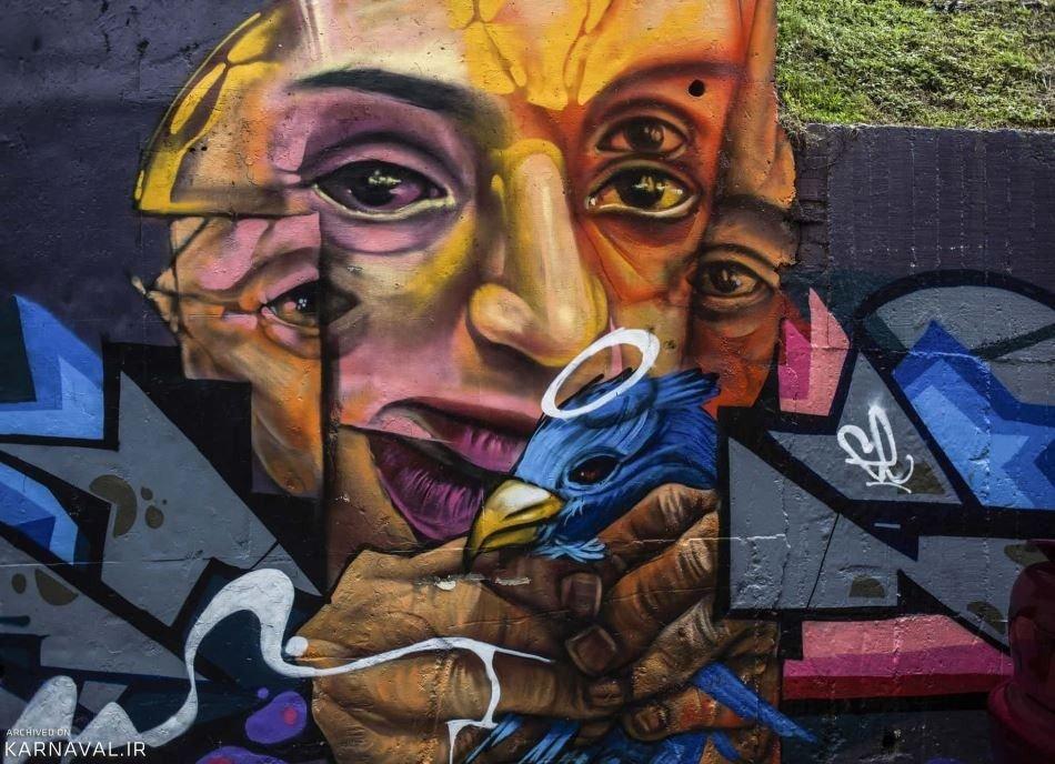 تصاویر گرافیتی های شهر مدئین
