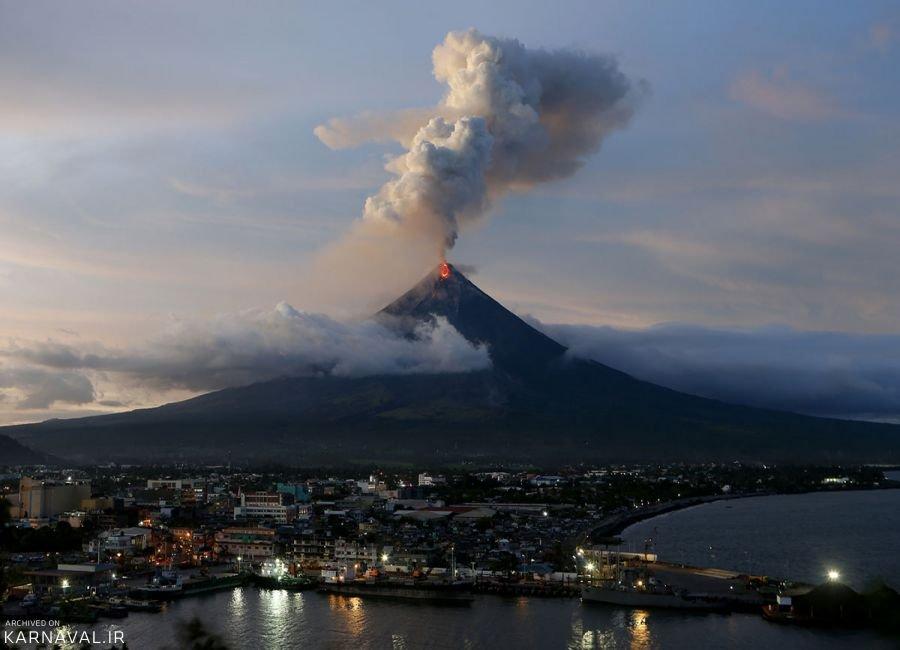 عکس های فوران آتشفشان در فیلیپین