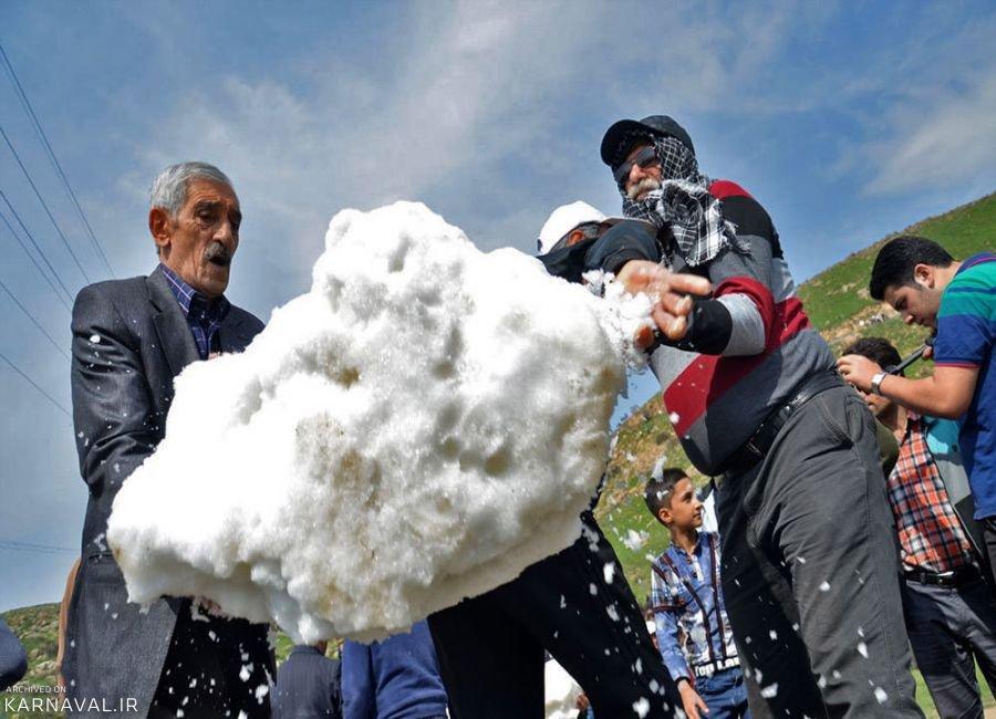 مراسم برف چال و زن شاهی در مازندران