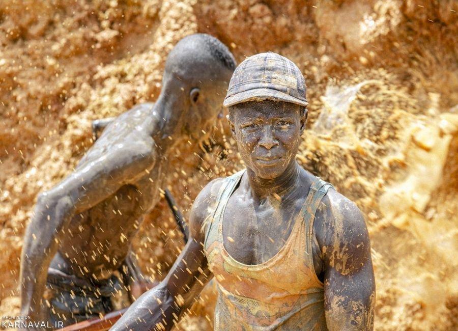 تصاویری از معادن طلا در غنا