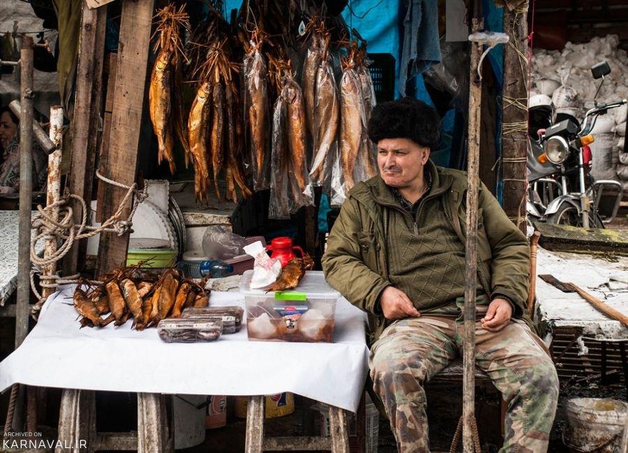 تصاویر بازار ماهی فروشان انزلی