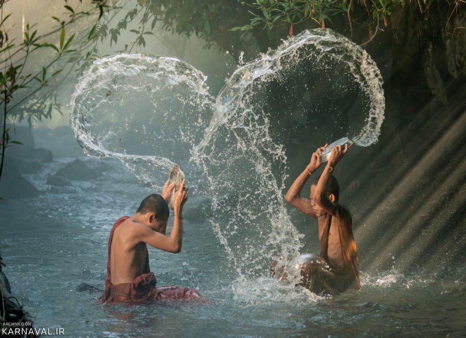 جشن آب بازی در تایلند