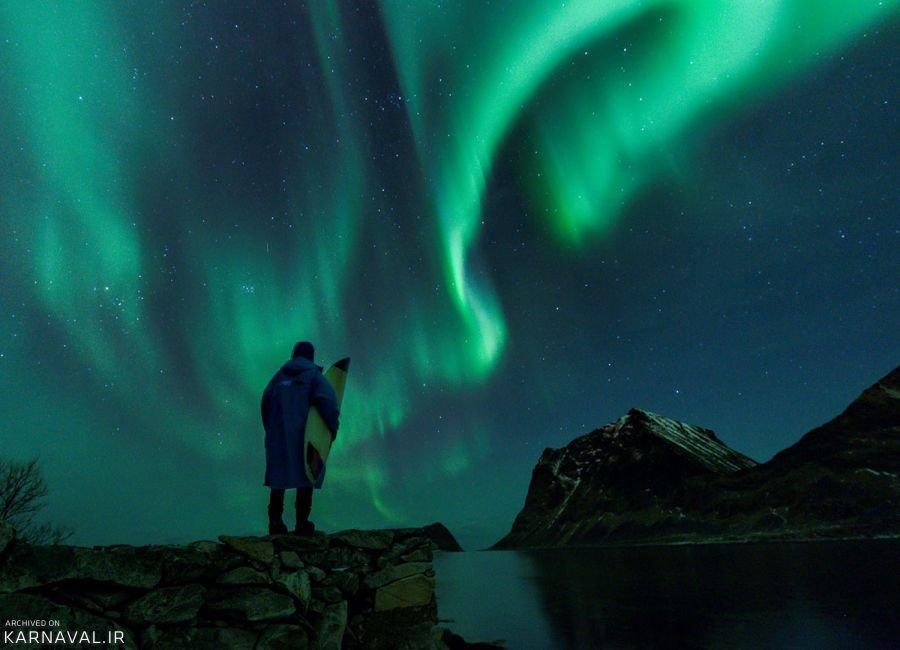 تصاویری از موج سواری در نروژ