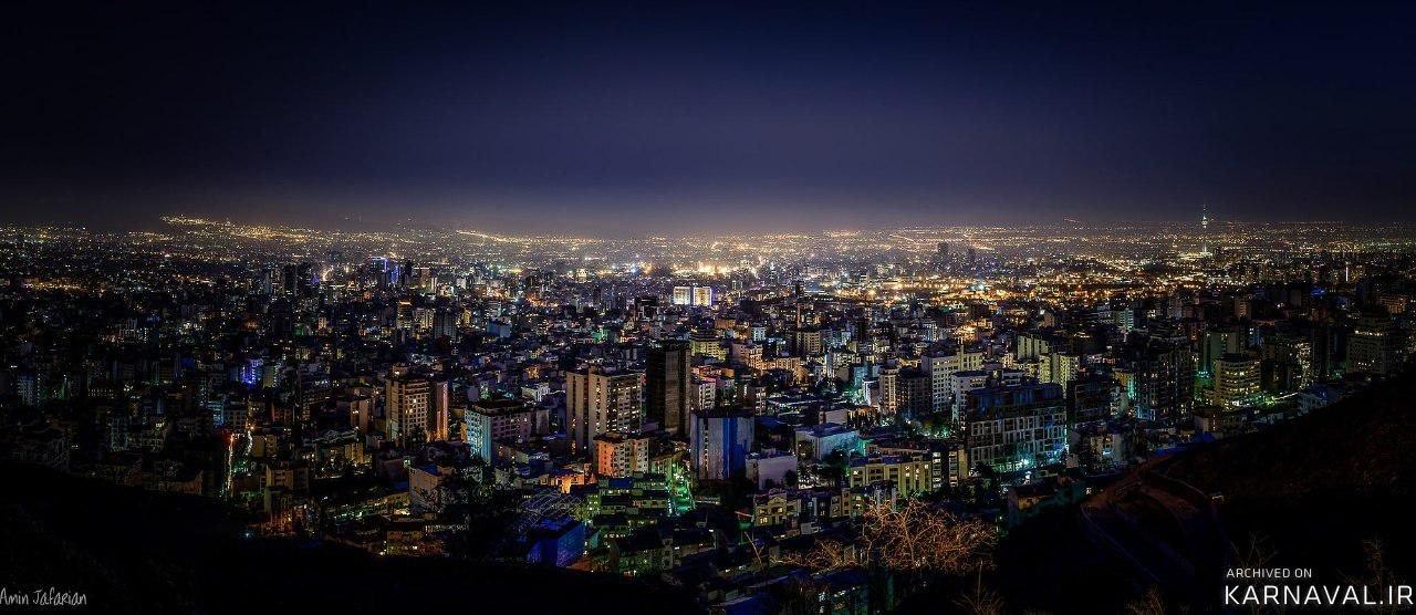 نمایی از بام تهران