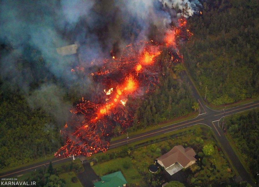 تصاویری وحشتناک از فوران آتشفشان کیلاویا در هاوایی