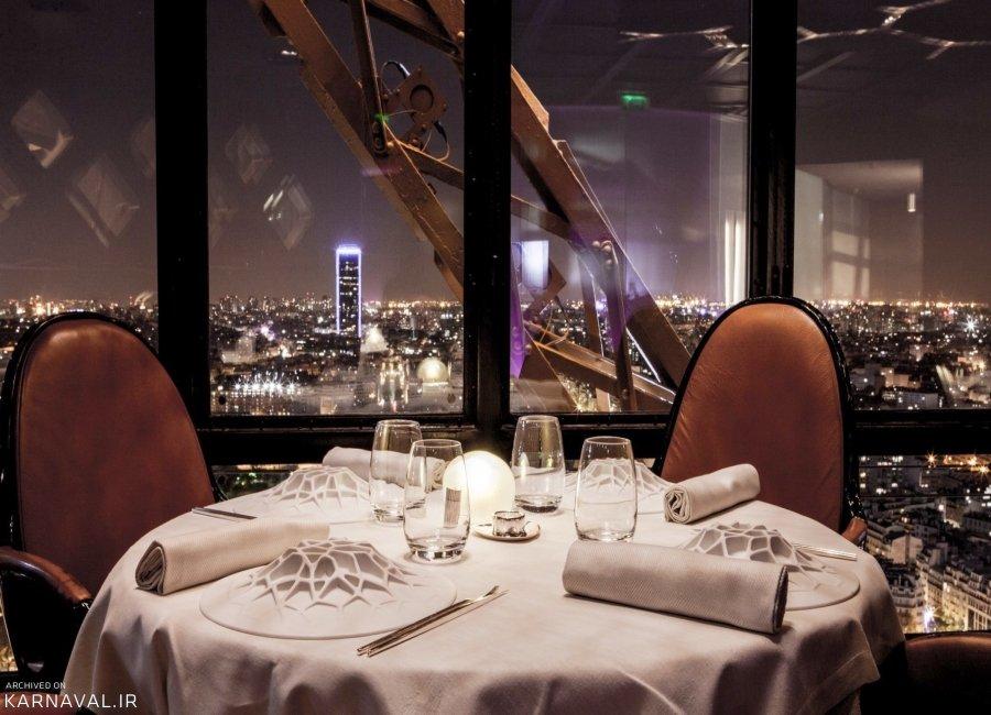 رستوران ژول ورن برج ایفل در پاریس