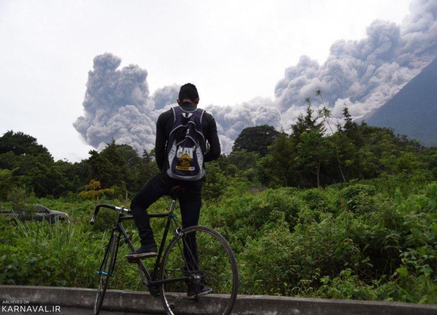 تصاویری از فوران آتشفشان فوئگو در گواتمالا