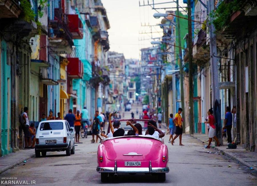 تصاویری از ماشین های کلاسیک در هاوانا