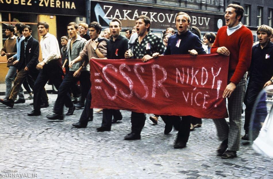 تصاویری از سرکوب بهار پراگ