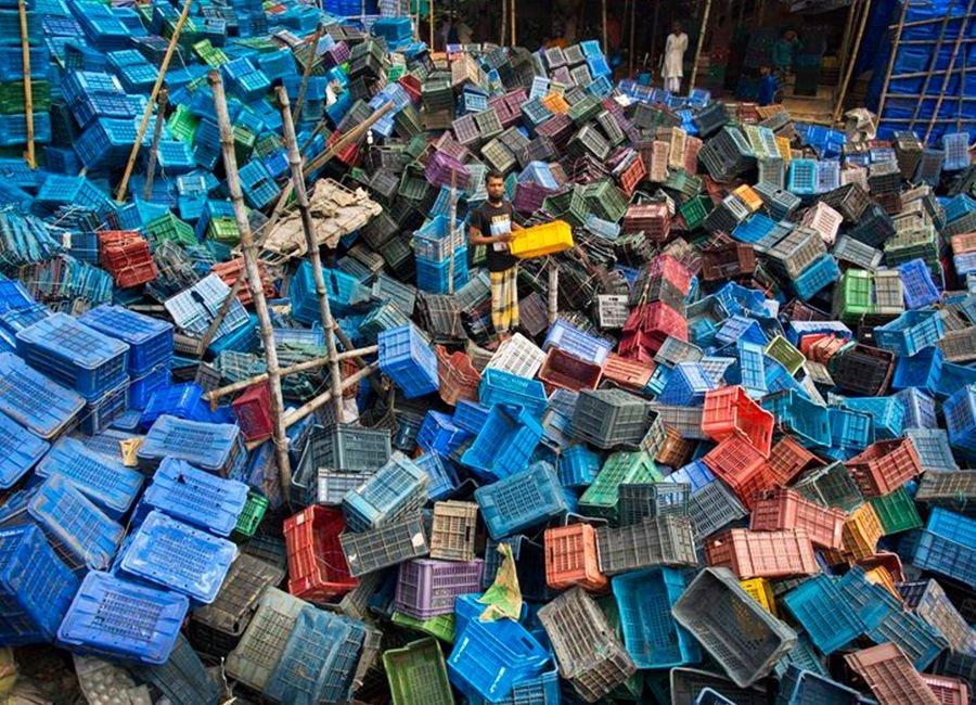 زباله های بازیافتی