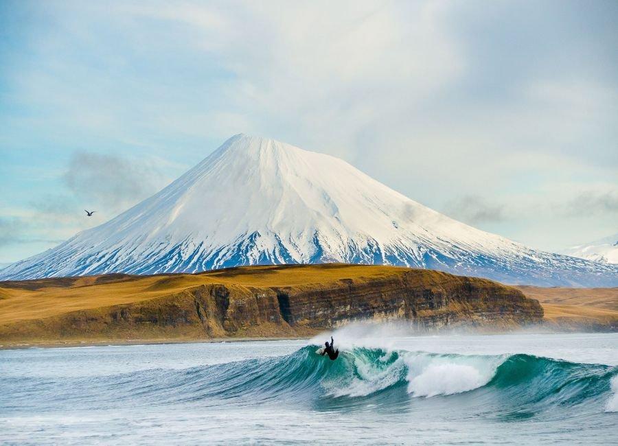 موج سواری در آلاسکا