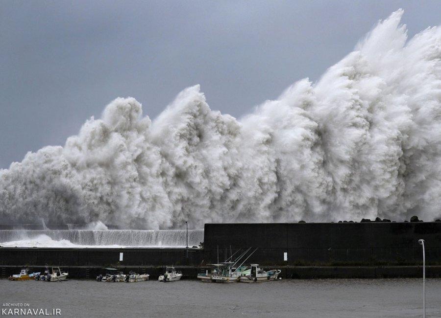 تصاویری از توفان سهمگین ژاپن در سال 2018