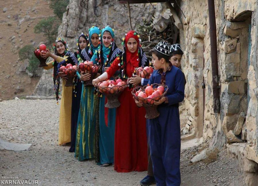 تصاویری از نخستین جشنواره انار در اورامان کردستان