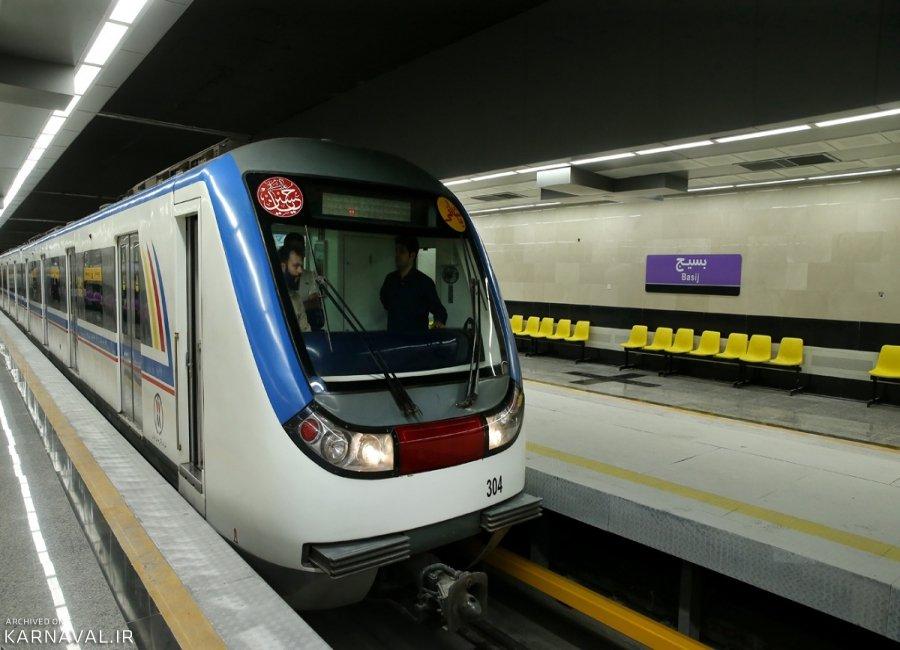 راهنمای خطوط مترو تهران، دانلود نقشه مترو تهران، زمان سفر و حرکت قطارها