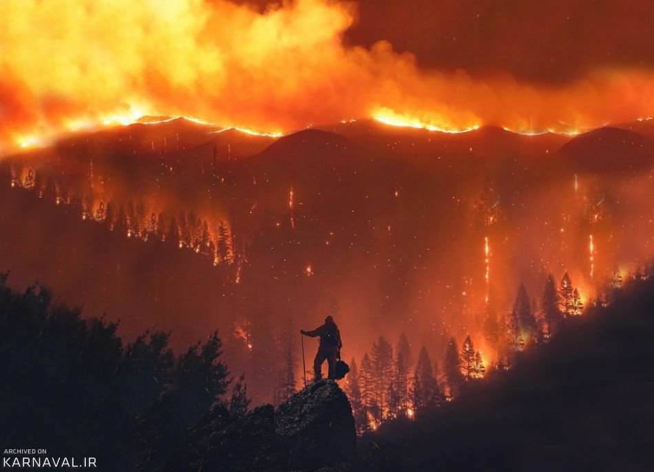 عکس های آتش سوزی کالیفرنیا در سال 2018