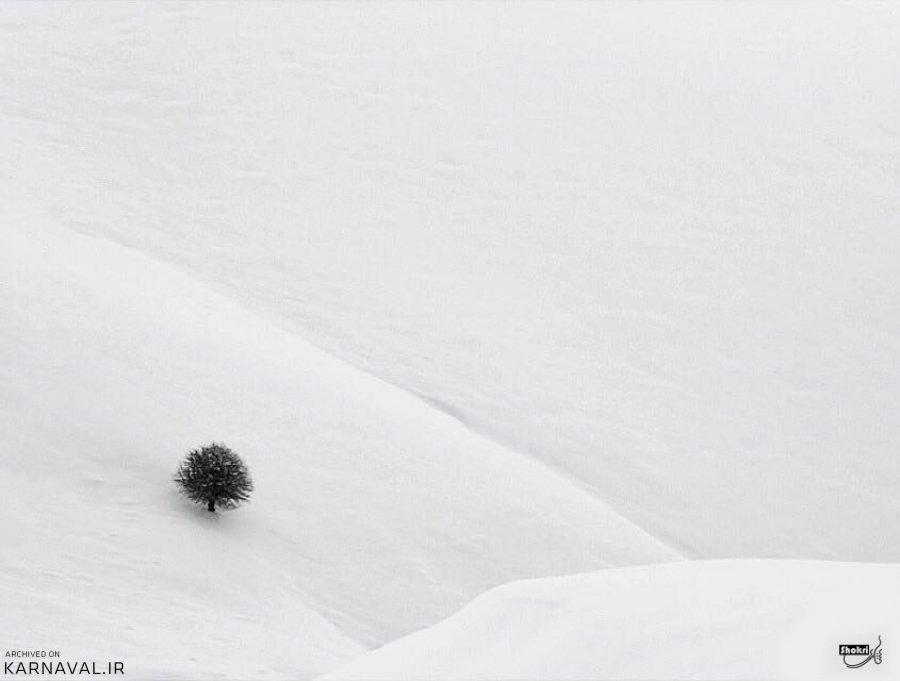 طبیعت برفی خلخال