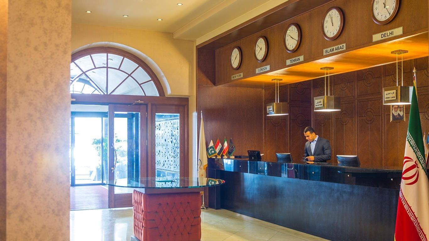 هتل فردوس مشهد پذیرش